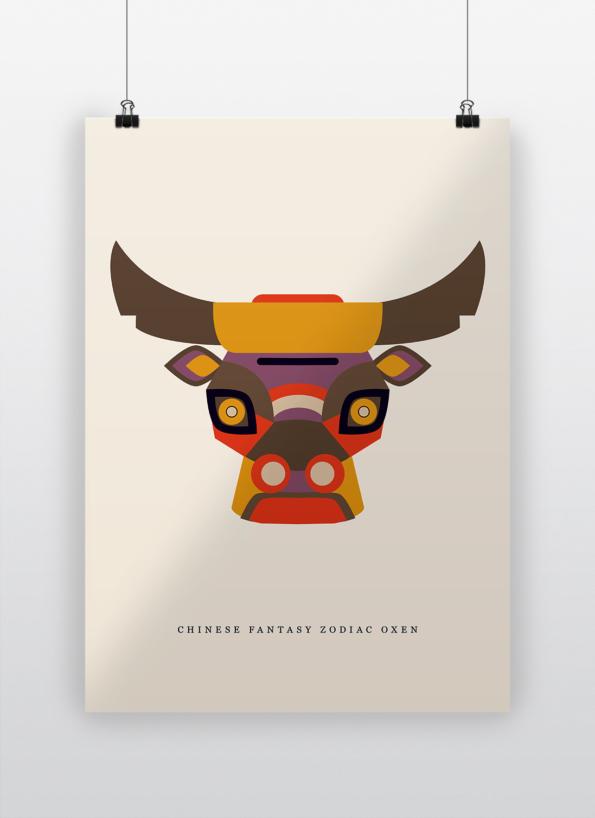 Chinese fantasy zodiac oxen