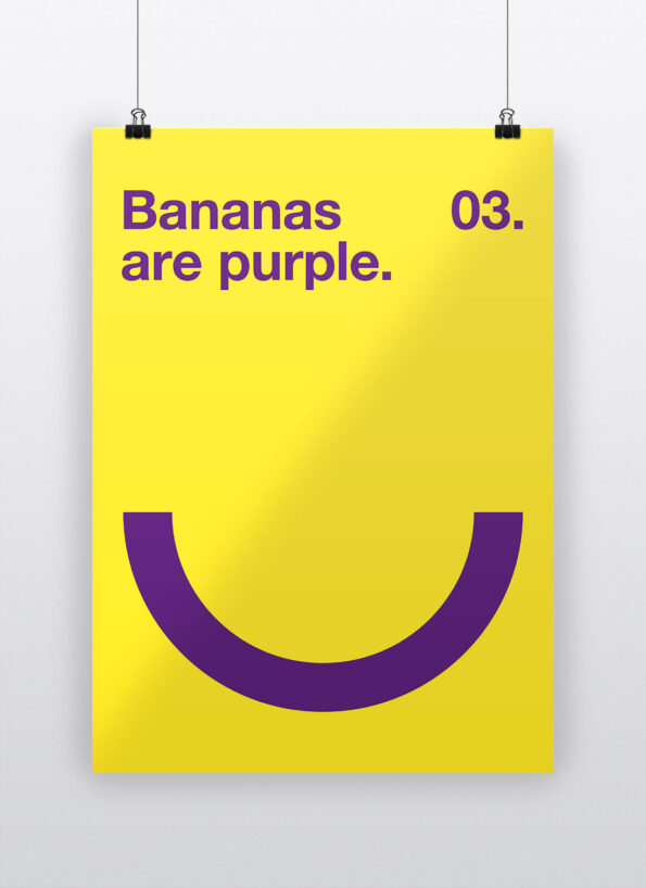 Bananas are purple
