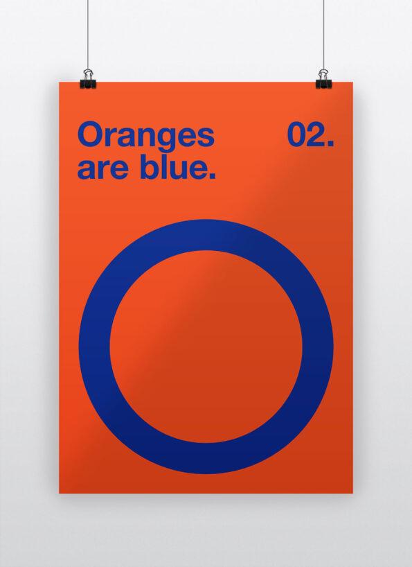 Oranges are blue